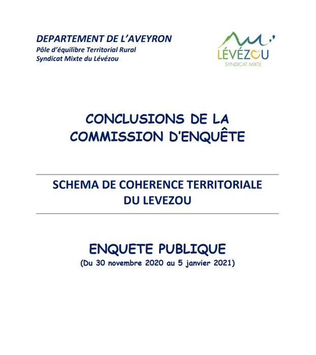 premiere de couverture conclusions commission d'enquete